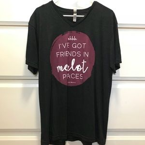 Tops - Friends in Merlot Places Tee